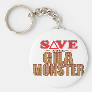 Gila-Monster retten Standard Runder Schlüsselanhänger