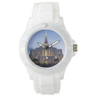 Gilbert Arizona LDS Tempel-weiße Silikon-Uhr Armbanduhr