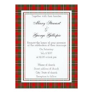 Gillispie schottische Hochzeits-Einladung 16,5 X 22,2 Cm Einladungskarte