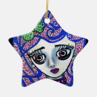 Gilly das traurige Emo Keramik Stern-Ornament