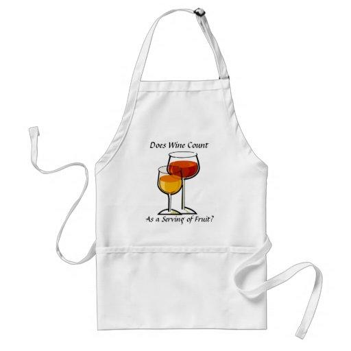 Gilt Wein als eine Umhüllung der Frucht? Schürzen