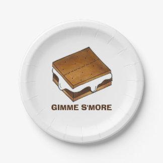 Gimme Smore S'mores Smores Lager-Picknick-Platte Pappteller