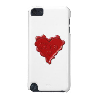 Gina. Rotes Herzwachs-Siegel mit Namensgina iPod Touch 5G Hülle