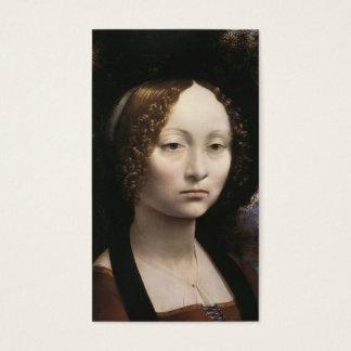 Ginevra de' Benci durch Leonardo da Vinci Visitenkarte