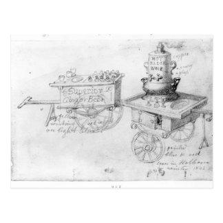 Gingerbeer und heißer Ältest-Wein klemmt herein Postkarte