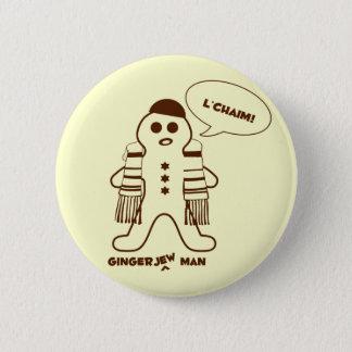 Gingerjew Mann Runder Button 5,7 Cm