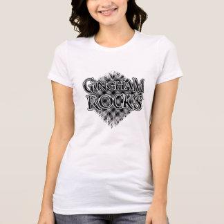 Gingham-Felsen - cooles einzigartiges T-Shirt