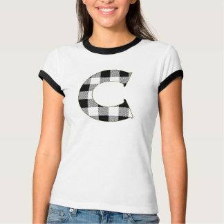 Gingham-Karo C T-Shirt