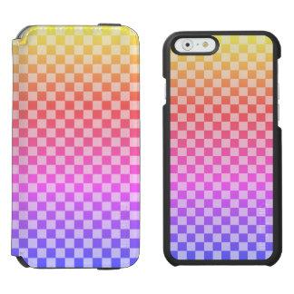 Gingham-Karo-Checkered helles buntes Incipio Watson™ iPhone 6 Geldbörsen Hülle