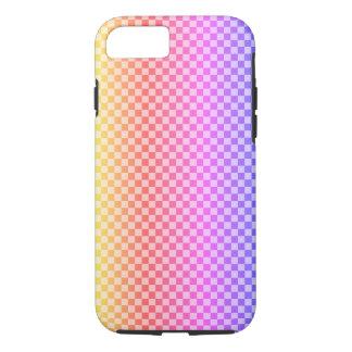 Gingham-Karo-Checkered helles buntes iPhone 8/7 Hülle