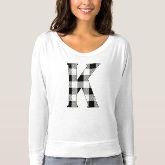 Gingham-Karo K T-shirt
