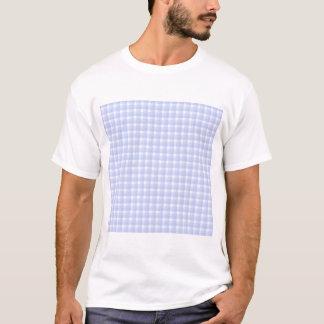 Gingham-Karomuster. Hellblau u. weiß T-Shirt