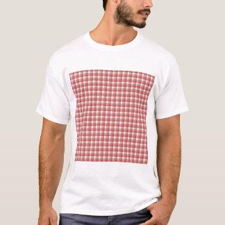 Gingham-Karomuster. Rot und Weiß T-Shirt