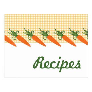 Gingham-Karotten-Rezept-Postkarte
