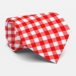 Gingham-rote und weiße Muster-Hals-Krawatte Krawatte