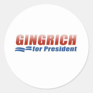 Gingrich für Präsidenten (2) Runder Aufkleber