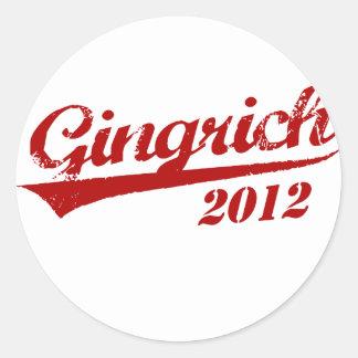 GINGRICH JERSEY 2012 RUNDER AUFKLEBER