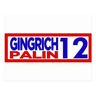 Gingrich Palin im Jahre 2012 Postkarte