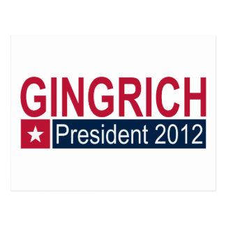 Gingrich Präsident 2012 Postkarte