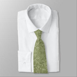 Ginkgo biloba Blätter auf Fink-Grün Krawatten