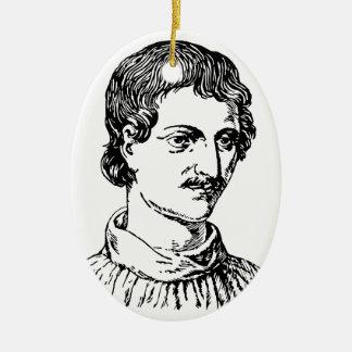 Giordano Bruno Ovales Keramik Ornament