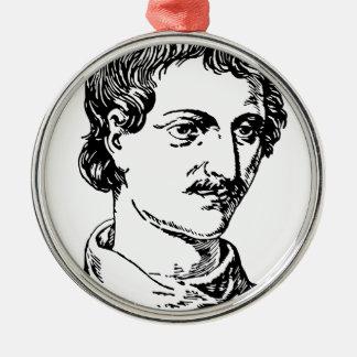 Giordano Bruno Silbernes Ornament