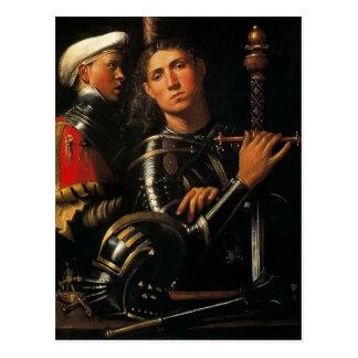Giorgione- Krieger mit Bräutigam Postkarte