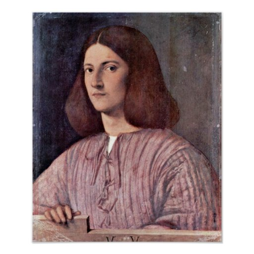 Giorgione - Porträt eines jungen Mannes Plakatdruck