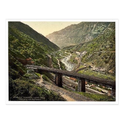 Giornico, Eisenbahn St. Gotthard, die Schweiz Postkarten