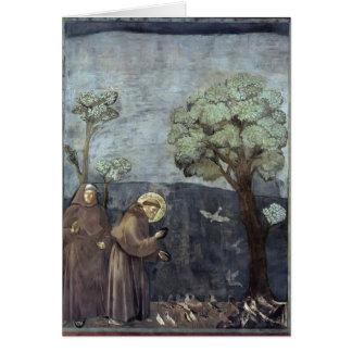 Giotto: St Francis, das zu den Vögeln predigt Karte