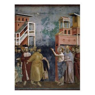 Giotto: St Francis verzichtet auf alle weltlichen Postkarte