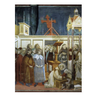 Giotto: St Francis von Assisi die Krippe Postkarte