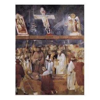 Giotto: St Jerome, welches die Schanden überprüft Postkarte