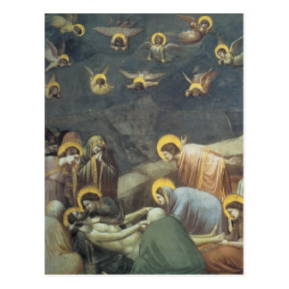 Giotto Wehklage von Christus Postkarte