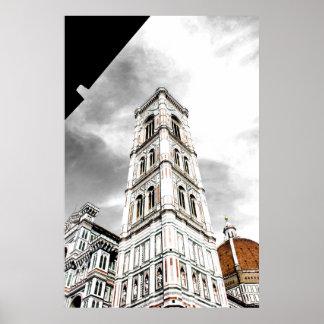 Giottos Glockenturm (Glockenturm) Florenz Italien Poster