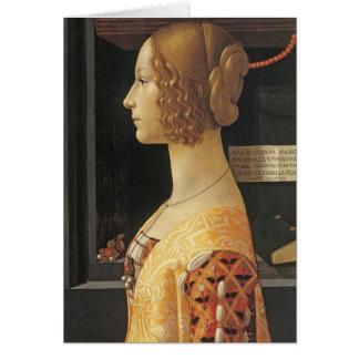 Giovanna degli Albizzi Tornabouni Grußkarte
