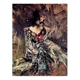 Giovanni Boldini - der Spanier vom Rouge Postkarte