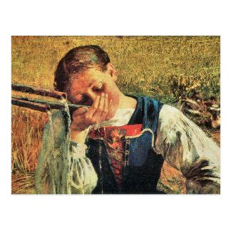 Giovanni Segantini - am Brunnen Postkarte