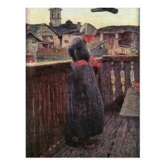 Giovanni Segantini - auf dem Balkon Postkarte