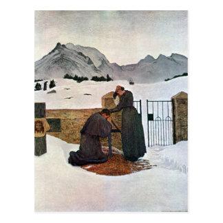 Giovanni Segantini - die Schmerz von Trauer Postkarte