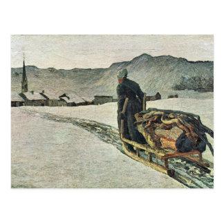 Giovanni Segantini - gehen Sie vom Wald zurück Postkarte
