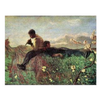 Giovanni Segantini - Idyll Postkarte