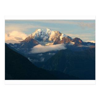 Gipfel-in-Morgenlicht Postkarte