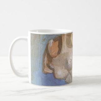 Gips-Statuette-weiblicher Torso durch Vincent van Kaffeetasse
