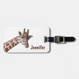 Giraffe - Adressen-Gepäckanhänger Kofferanhänger