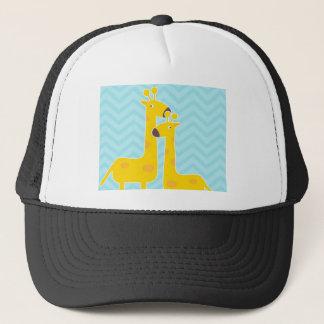 Giraffe auf Zickzack Muster des Zickzacks - Truckerkappe