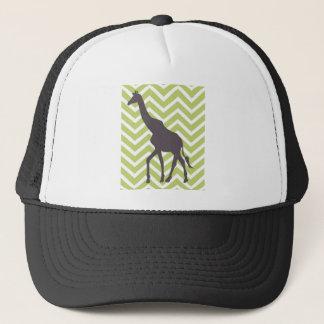 Giraffe auf Zickzack Zickzack - Grün und Weiß Truckerkappe