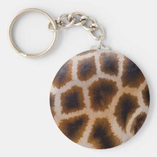 Giraffe bessert gepunktete standard runder schlüsselanhänger