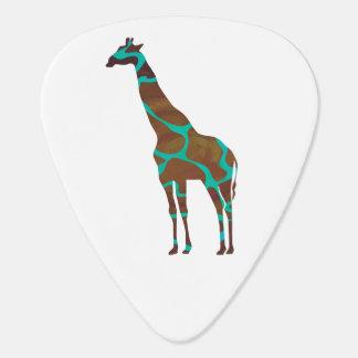 Giraffe Brown und aquamarines Siloette Plektrum