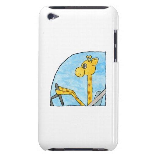 Giraffe, die ein Auto fährt iPod Touch Case